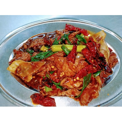 Beef with Dried Chilies