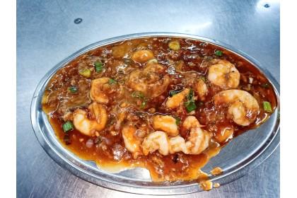 Prawns in Sweet, Sour & Hot sauce