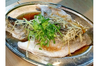 Steam Fish with Ginger and Soy sauce